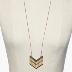 Madewell Vintage Gold Arrowstack Necklace